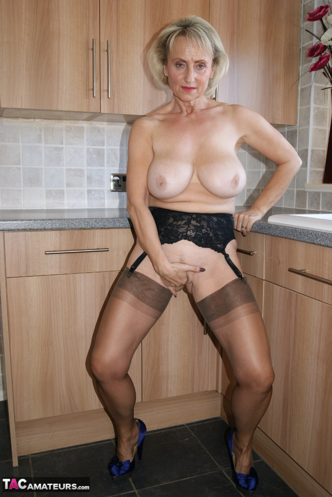 in milf Hot stockings wives amateur